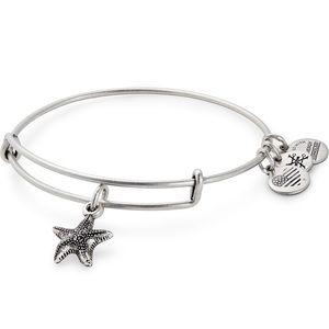 Alex and Ani Starfish Charm Bangle Silver